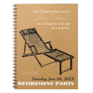 Rétro carnet 1 de partie de retraite de chaise