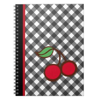 Rétro carnet de cuisine scolaire de guingan de