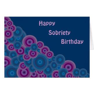 Rétro carte d'anniversaire géniale de sobriété de