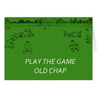 Rétro carte de cricket