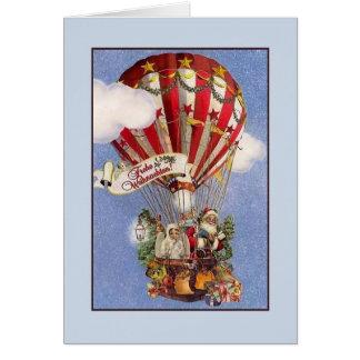 Rétro carte de Noël de Frohe Weihnachten