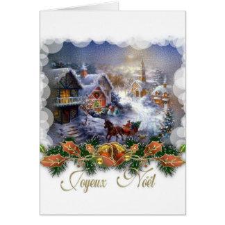 Rétro carte de Noël de Joyeux Noel de Français