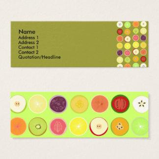 Rétro carte de profil de fruits
