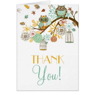 Rétro carte de remerciements coloré de mariage de