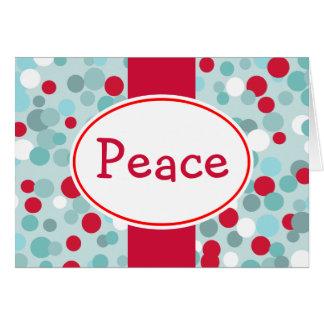 Rétro carte de vacances de paix