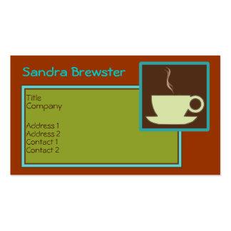 Rétro carte de visite de café de tasses de thé