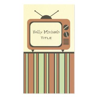Rétro carte de visite de poste TV