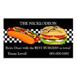 Rétro carte de visite de wagon-restaurant