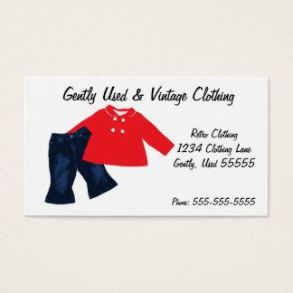 Rétro carte de visite d'habillement