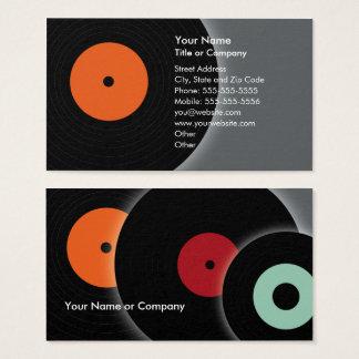 Rétro carte de visite du DJ de disque