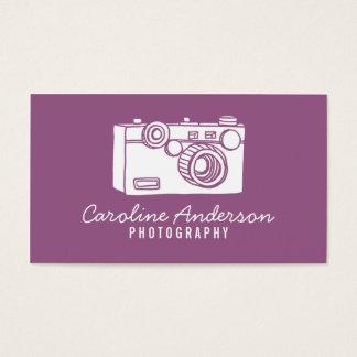 Rétro carte de visite pourpre de photographe