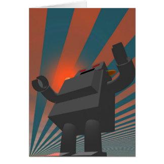 Rétro carte du robot 4 de style