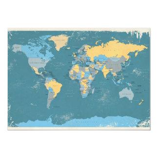 Rétro carte politique du monde bristols
