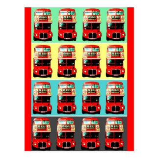 Rétro carte postale -3 d'autobus de Londres