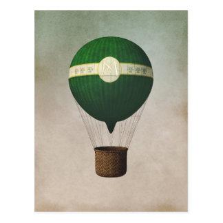 Rétro carte postale chaude de ballon à air