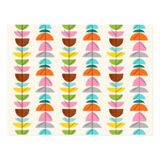 Rétro carte postale colorée de nids