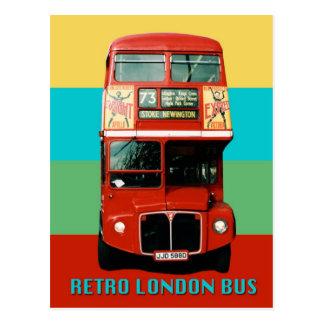 Rétro carte postale d'autobus de Londres