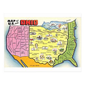 Rétro carte postale de l'Ohio