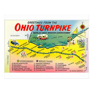 Rétro carte postale de péage de l'Ohio