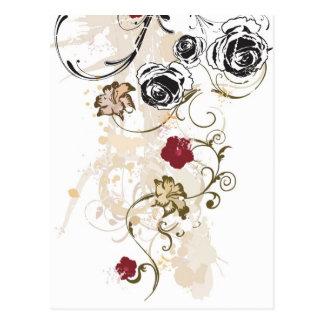 Rétro carte postale de roses