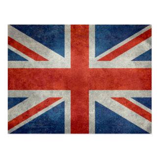 Rétro carte postale de style de drapeau
