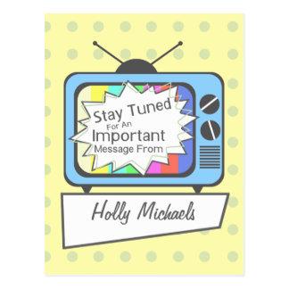 Rétro carte postale : Séjour accordé….Poste TV