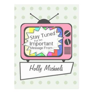 Rétro carte postale : Séjour accordé….Poste TV ros
