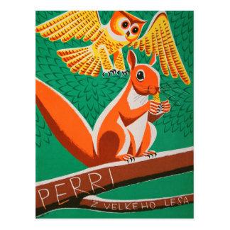 Rétro carte postale tchèque d'affiche de film de