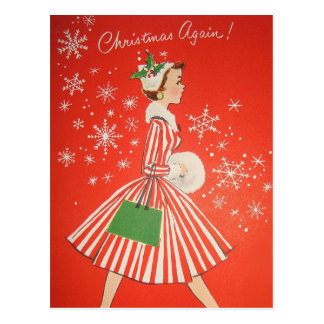 Rétro carte postale vintage de Noël