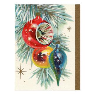 Rétro carte postale vintage de vacances d'ampoules