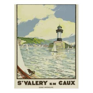 Rétro carte postale vintage France la Seine de