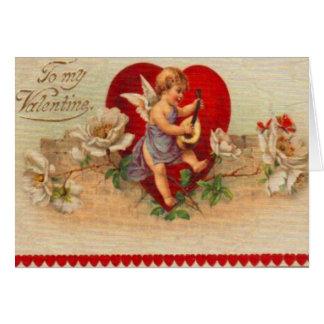 Rétro carte victorienne vintage de Valentine de