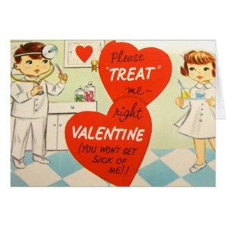 Rétro carte vintage de docteur Valentine