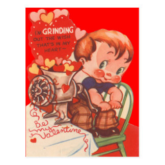 Rétro carte vintage de Valentine de broyeur de Carte Postale