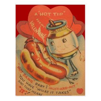 Rétro carte vintage de Valentine de moutarde de