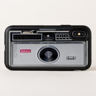 Rétro cas drôle de l'iPhone X d'OtterBox de noir