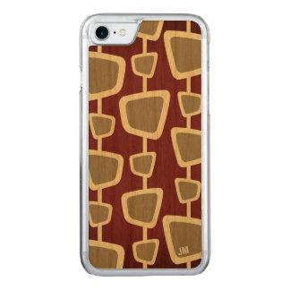 Rétro cas moderne de l'iPhone 7 de monogramme de Coque Iphone 7 En Bois