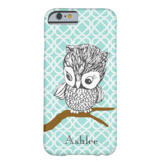 Rétro cas personnalisable de l'iPhone 6 de hibou Coque iPhone 6 Barely There