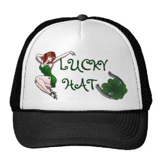Rétro casquette chanceux de pin-up irlandais de ca