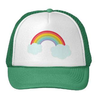 Rétro casquette de camionneur d'arc-en-ciel