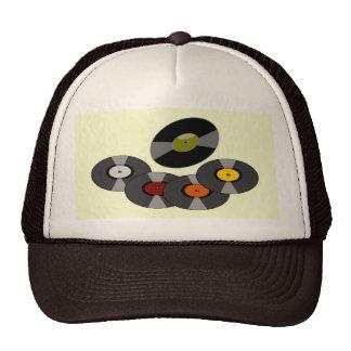 Rétro casquette de camionneur de disques -