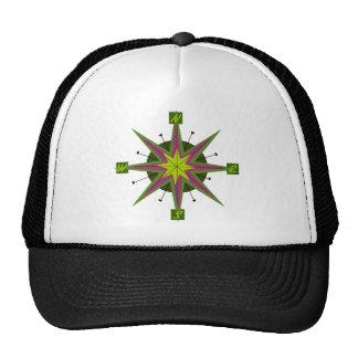 Rétro casquette de conception de boussole