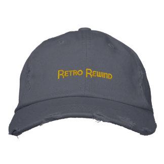 Rétro casquette de rebobinage (affligé) casquette brodée