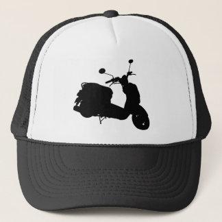 Rétro casquette de silhouette de scooter