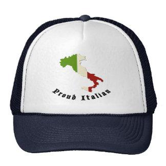 Rétro casquette italien fier de chapeau de