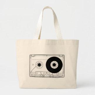 rétro cassette vintage graphique de T-shirt de cas Grand Sac