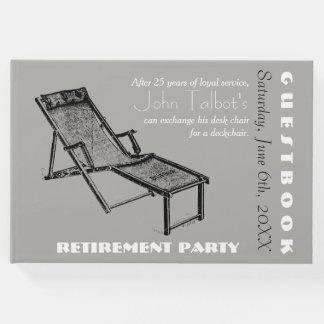 Rétro chaise longue 1 livre d'invité de partie de