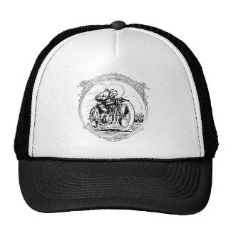 Rétro chapeau vintage de casquette d'homme de moto