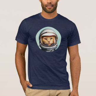 Rétro chat de l'espace t-shirt