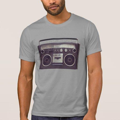 Rétro chemise de sableuse de ghetto de 80s Boombox T-shirts